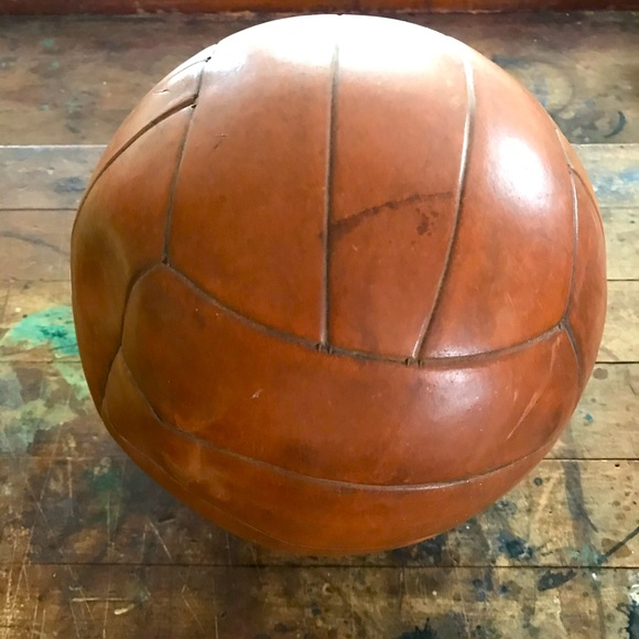 Voit vintage brown leather volleyball ball